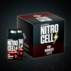 NitroCell Shot Pre-Workout 9x60ml Raspberry